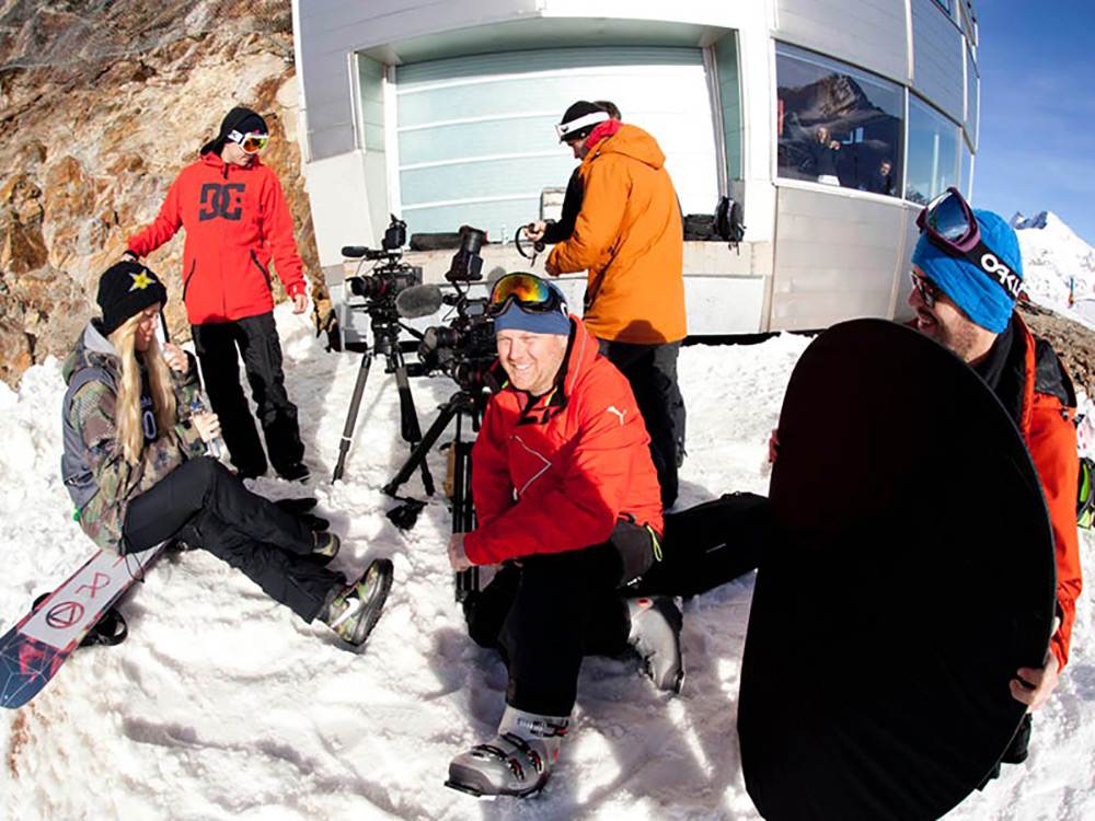 Filming with Silje Norendal in Austria