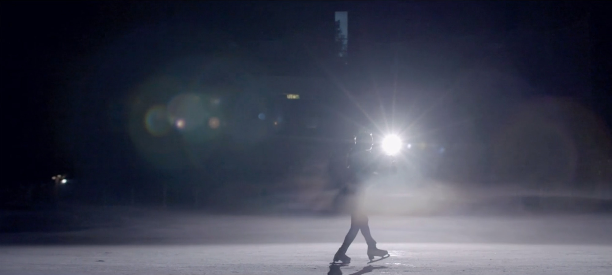 One big light an ice rink and Yuna Kim